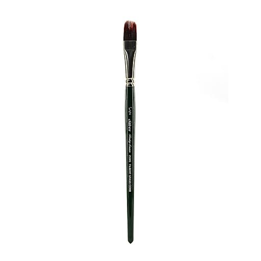 Silver Brush Ruby Satin Series Synthetic Brushes Short Handle 1/2 in. grass comb 2528S
