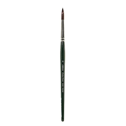Silver Brush Ruby Satin Series Synthetic Brushes Short Handle 8 round 2500S