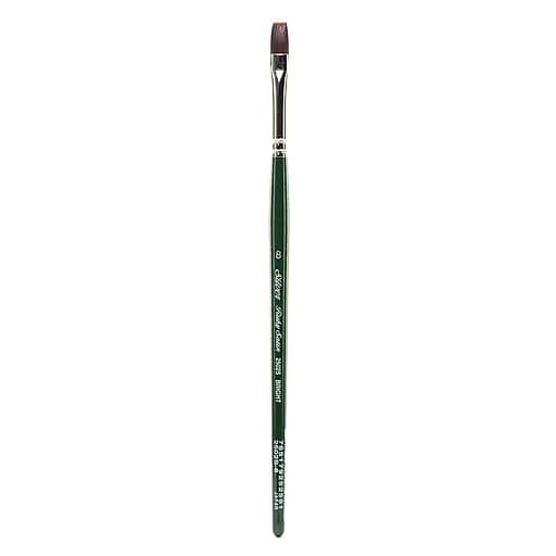 Silver Brush Ruby Satin Series Synthetic Brushes Short Handle 8 bright 2502S