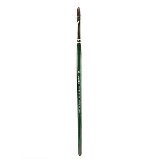 Silver Brush Ruby Satin Series Synthetic Brushes Short Handle 6 filbert 2503S