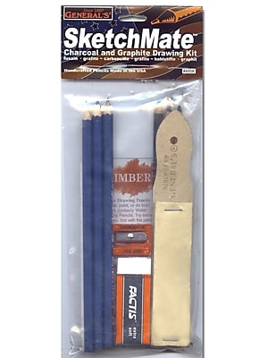 General's SketchMate Charcoal and Graphite Drawing Kit, 3/Pack