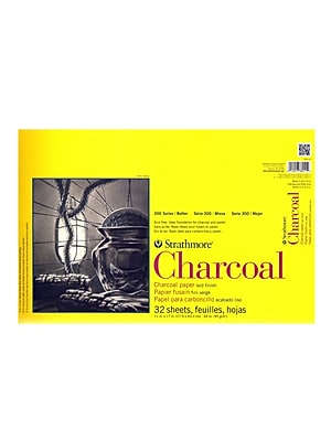 Strathmore 300 Series Charcoal Paper Pads 11 in. x 17 in. 32 sheets [Pack of 2]