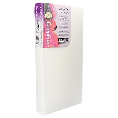 Winsor and Newton Artists' Deep Edge Canvas 6 in. x 12 in. each