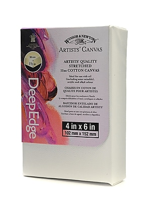 Winsor and Newton Artists' Deep Edge Canvas 4 in. x 6 in. each [Pack of 4]