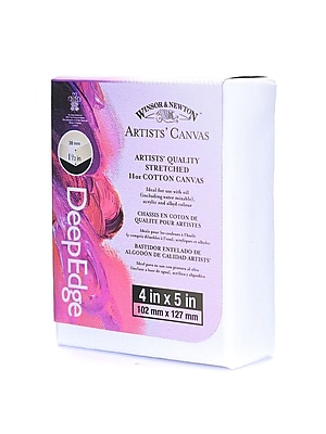 Winsor and Newton Artists' Deep Edge Canvas 4 in. x 5 in. each [Pack of 6]