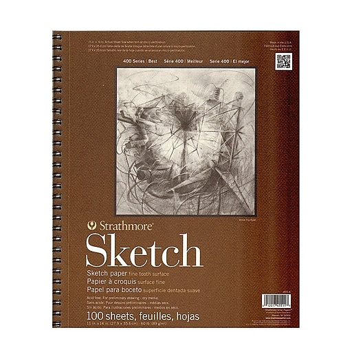 Strathmore Series 400 Sketch Pads 11 in. x 14 in. 100 sheets [Pack of 2]