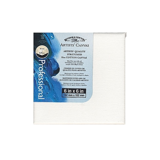 """Winsor and Newton Artists' Canvas, 6"""" x 6"""", 4/Pack (25956-PK4)"""