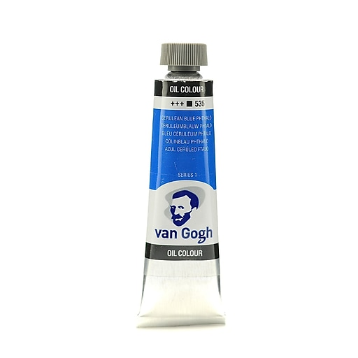 Van Gogh Oil Color cerulean blue phthalo 40 ml (1.35 oz) [Pack of 3]