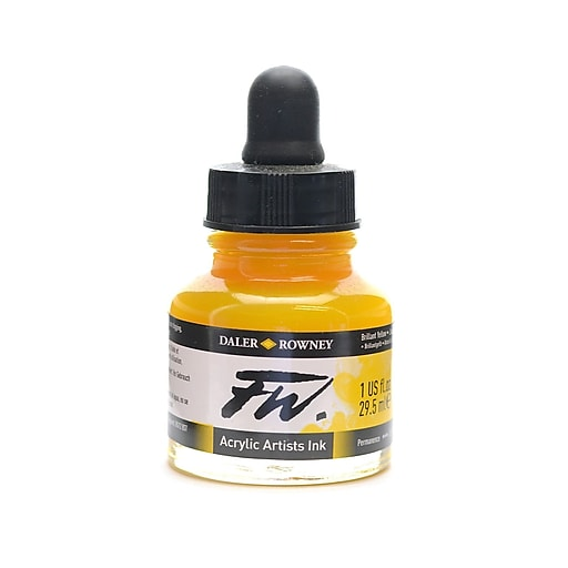 Daler-Rowney Fw Artists' Ink Brilliant Yellow 1 Oz. [Pack Of 2]