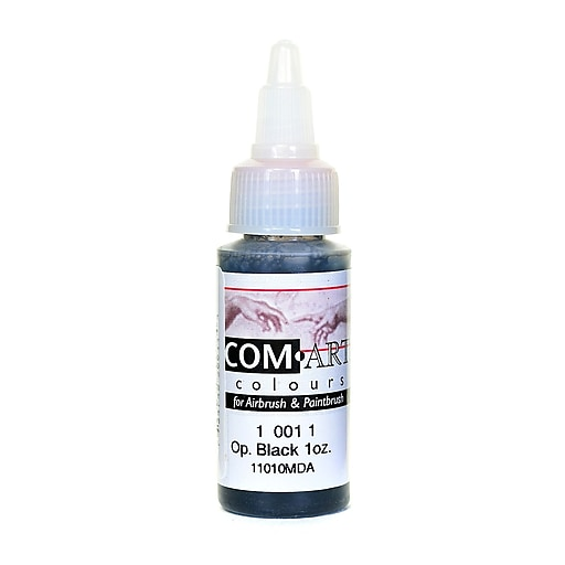 Com-Art Opaque Airbrush Color black [Pack of 4]