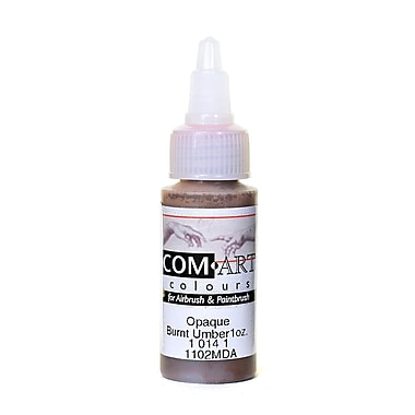Com-Art Opaque Airbrush Color burnt umber [Pack of 4]