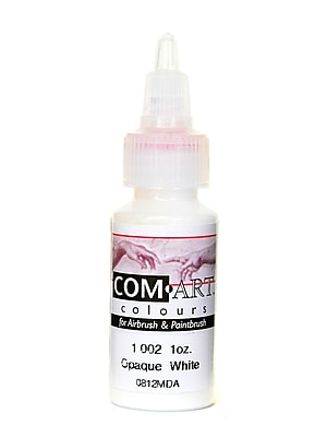 Com-Art Opaque Airbrush Color white [Pack of 4]
