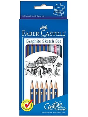 Faber-Castell Studio Graphite Sketch Pencils, 6/Set, 3/Pack