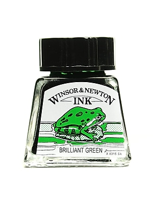 Winsor and Newton Drawing Inks brilliant green 14 ml 46 [Pack of 4]