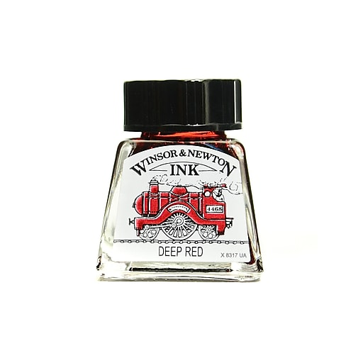 Winsor and Newton Drawing Inks deep red 14 ml 227 [Pack of 4]