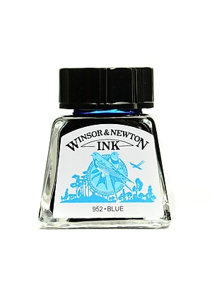 Winsor and Newton Drawing Inks blue 14 ml 32 [Pack of 4]