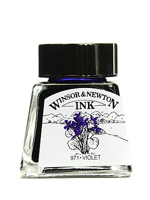 Winsor and Newton Drawing Inks violet 14 ml 688 [Pack of 4]