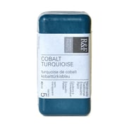 R  and  F Handmade Paints Encaustic Paint cobalt turquoise 40 ml