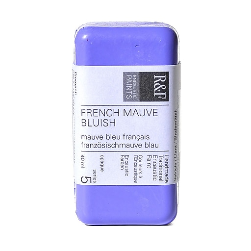 R  and  F Handmade Paints Encaustic Paint French mauve bluish 40 ml