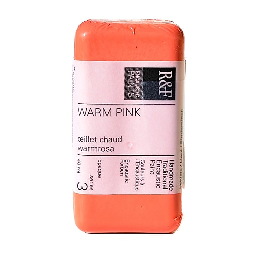 R  and  F Handmade Paints Encaustic Paint warm pink 40 ml