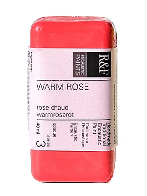 R and F Handmade Paints Encaustic Paint warm rose 40 ml