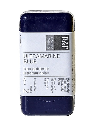 R and F Handmade Paints Encaustic Paint ultramarine blue 40 ml [Pack of 2]
