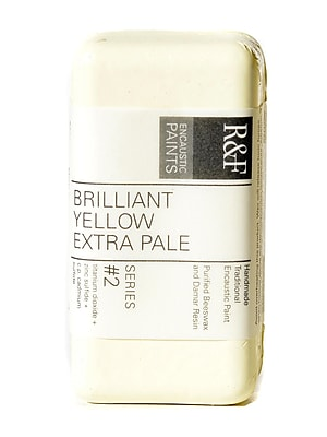 R and F Handmade Paints Encaustic Paint brilliant yellow extra pale 40 ml [Pack of 2]