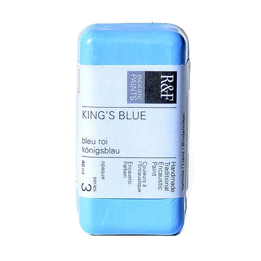 R  and  F Handmade Paints Encaustic Paint king's blue 40 ml