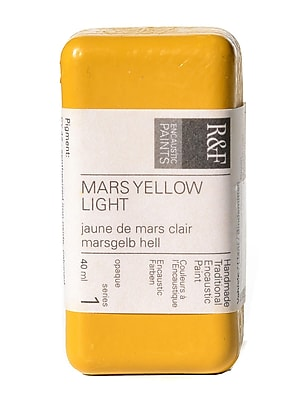 R and F Handmade Paints Encaustic Paint mars yellow light 40 ml [Pack of 2]