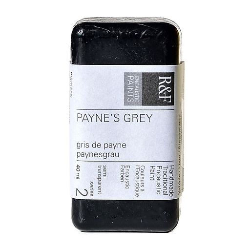 R  and  F Handmade Paints Encaustic Paint Payne's grey 40 ml [Pack of 2]