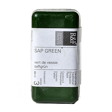 R and F Handmade Paints Encaustic Paint sap green 40 ml