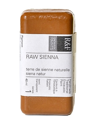 R and F Handmade Paints Encaustic Paint raw sienna 40 ml [Pack of 2]