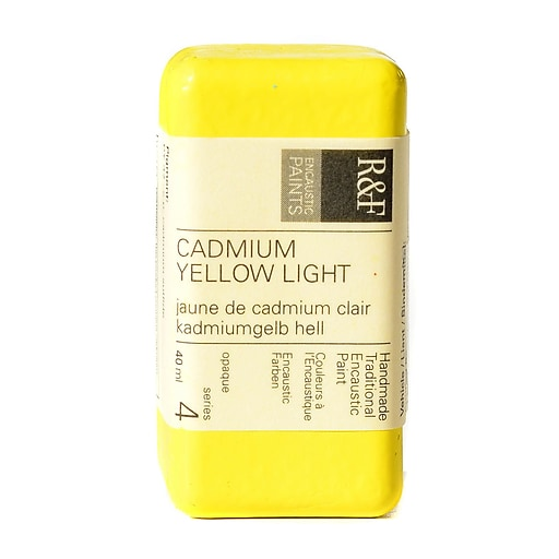 R  and  F Handmade Paints Encaustic Paint cadmium yellow light 40 ml
