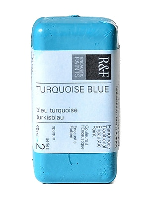 R and F Handmade Paints Encaustic Paint turquoise blue 40 ml [Pack of 2]