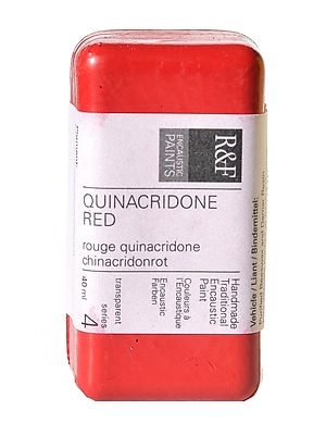 R and F Handmade Paints Encaustic Paint quinacridone red 40 ml