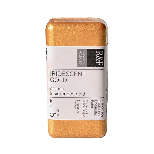 R  and  F Handmade Paints Encaustic Paint iridescent gold 40 ml