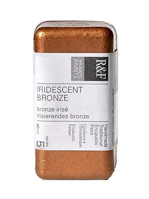 R and F Handmade Paints Encaustic Paint iridescent bronze 40 ml