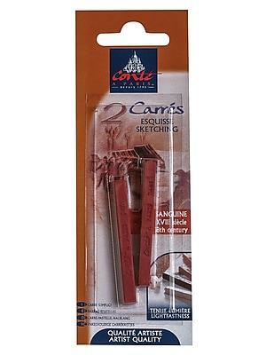 Conte Crayons B Sanguine XVII Century Pack of 2, 4/Pack