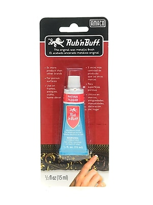 Rub 'N Buff The Original Wax Metallic Finish Patina [Pack Of 3]