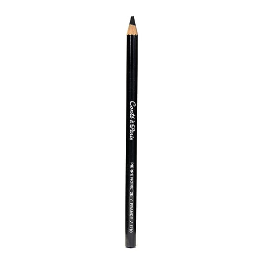 Conte Crayons Esquisse Drawing Pencils 3B Black Pack of 12