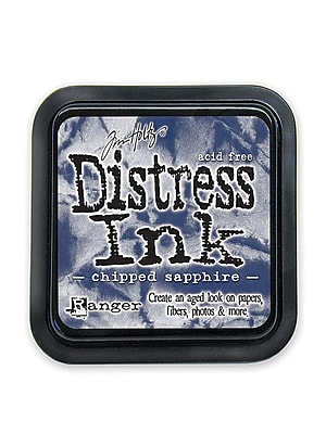Ranger Tim Holtz Distress Ink chipped sapphire pad [Pack of 3]