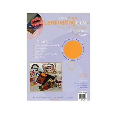 Grafix Laminating Film heavy weight 9 in. x 12 in. pack of 3 [Pack of 3]