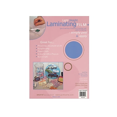 Grafix Laminating Film light weight 9 in. x 12 in. pack of 4 [Pack of 3]