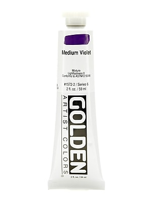 Golden Heavy Body Acrylics medium violet 2 oz.