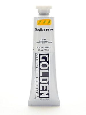 Golden Heavy Body Acrylics Diarylide Yellow 2 Oz. (32744)