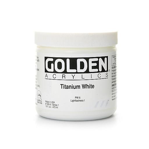 Golden Heavy Body Acrylics titanium white 16 oz.
