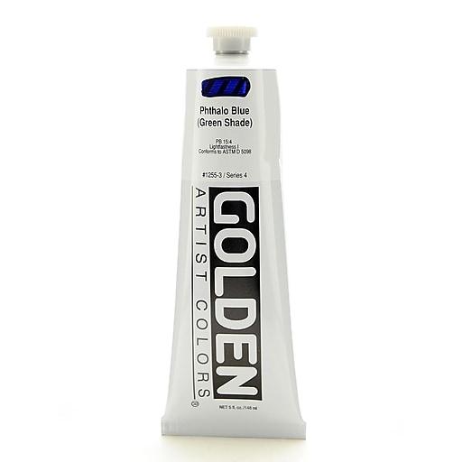 Golden Heavy Body Acrylics phthalo blue/green shade 5 oz.