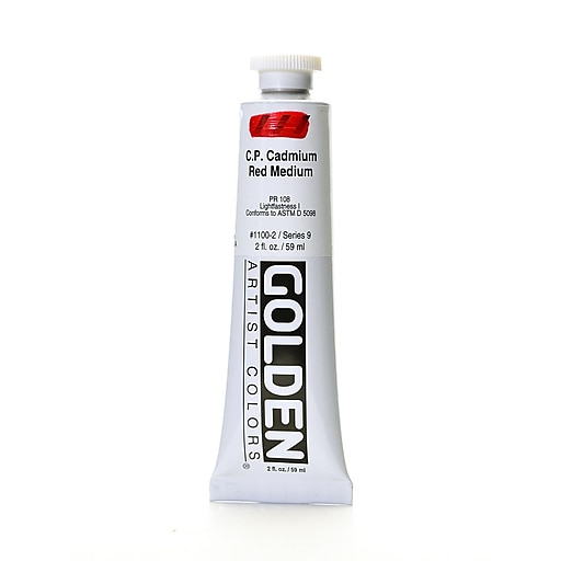 Golden Heavy Body Acrylics, Cadmium Red, Medium (58534)