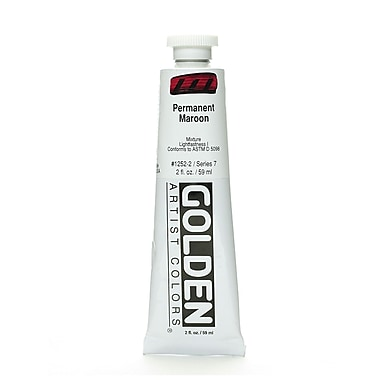 Golden Heavy Body Acrylics, Permanent Maroon, 2oz (59414)