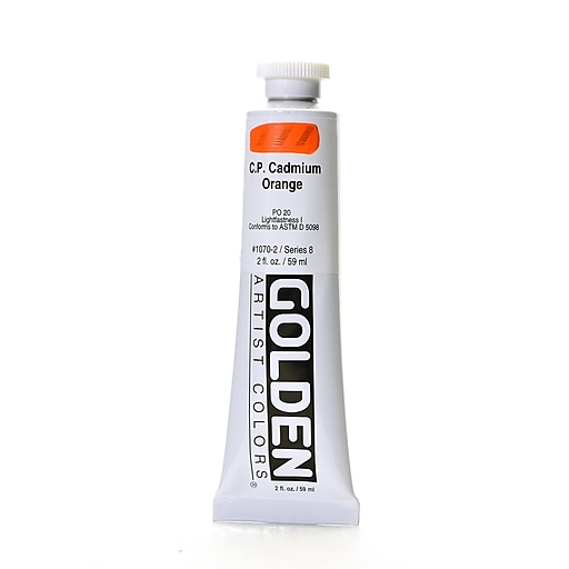 Golden Heavy Body Acrylics, Cadmium Orange (70069)